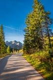 Дорога гор в осени в Tatras, Польше Стоковая Фотография RF