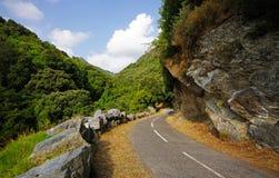 дорога гор Корсики малая Стоковые Фото