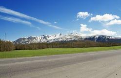дорога гор снежная Стоковое фото RF
