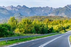 дорога гор сценарная Горный вид Стоковые Фотографии RF