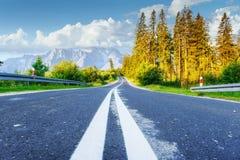 дорога гор сценарная Горный вид carpathians Украина Стоковое фото RF