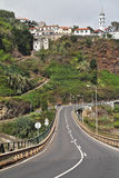 дорога гор madiera острова к Стоковые Изображения RF