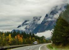дорога гор montenegro alpines Стоковые Фото