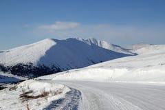 дорога гор sayan к западному Стоковые Изображения