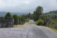 Дорога гравия в Ирландии стоковое изображение rf