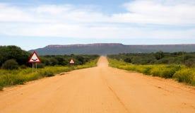Дорога гравия в Намибии Стоковое Изображение RF