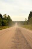 Дорога гравия в midland России стоковые фотографии rf