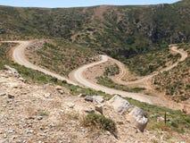 Дорога гравия Греции Стоковая Фотография