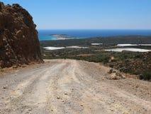 Дорога гравия Крита Стоковое Изображение RF