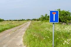 Дорога гравия мертвого конца Стоковые Фото