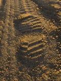 дорога гравия следа ноги Стоковое Изображение RF