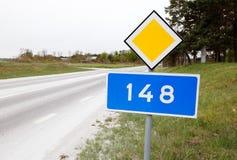 Дорога 148 графства Стоковые Фото