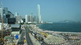 Дорога движения с китайским народом управляет и едет кораблем с строительной площадкой акции видеоматериалы