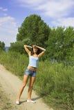 дорога девушки стоковое фото rf
