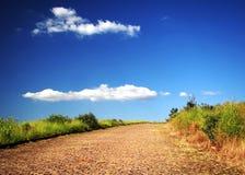 дорога дезертированная страной Стоковое Фото