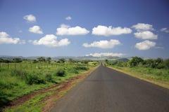 дорога держателя Кении прямо к Стоковые Изображения RF