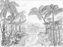 дорога джунглей иллюстрация вектора