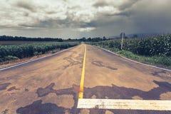 Дорога для того чтобы идти дождь шторм Стоковое фото RF
