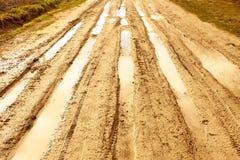 дорога дождя сельская Стоковое Изображение RF