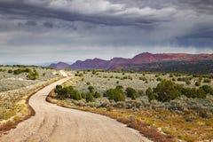 Дорога долины утеса дома стоковое изображение rf
