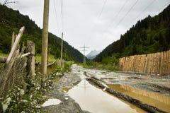 Дорога деревни сельская Стоковая Фотография RF