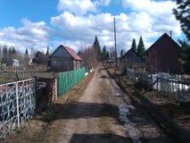 Дорога деревни Стоковые Фотографии RF