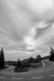 Дорога Закинфа в B&W Стоковые Изображения RF
