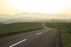 Дорога захода солнца Стоковое Изображение