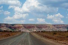 Дорога захолустья в области Кимберли Австралии стоковые изображения rf