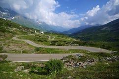 Дорога зигзага Стоковая Фотография RF