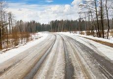 Дорога зимы опасная стоковые фотографии rf