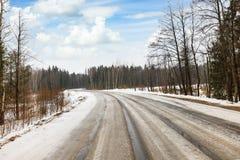Дорога зимы опасная стоковое фото