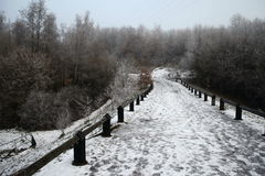 Дорога зимы 1852 слякотная Стоковое фото RF