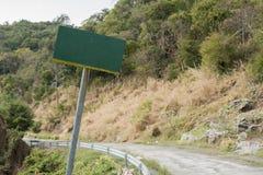Дорога знака в Si Chang земля, деревья дороги леса, проселочная дорога, Стоковая Фотография RF