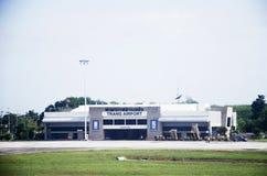 Дорога здания и взлётно-посадочная дорожка авиапорта Trang Стоковое Изображение