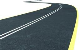 дорога изогнутая асфальтом Стоковые Фотографии RF