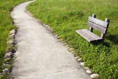 дорога изогнутая стулом стоковое фото rf
