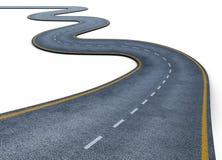 Дорога изолированная на белой предпосылке 3d представляют цилиндры image Стоковая Фотография