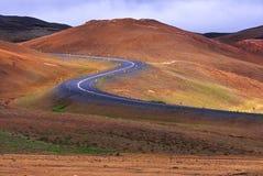 дорога Исландии стоковые изображения rf