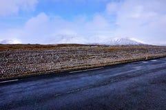 Дорога Исландия Стоковые Фотографии RF