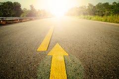 Дорога и желтый цвет Стоковое Изображение RF