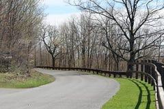 Дорога и загородка Стоковое Изображение