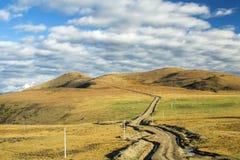 Дорога и небо Стоковые Фотографии RF