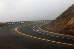 Дорога и туман осени Стоковое Фото