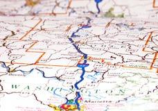 дорога карты Стоковая Фотография
