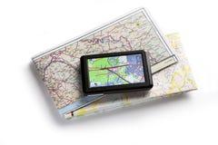 дорога карты стоковое изображение rf