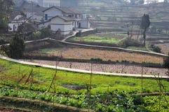 Дорога китайских деревень Стоковые Изображения RF