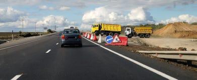 дорога конструкции Стоковые Фото