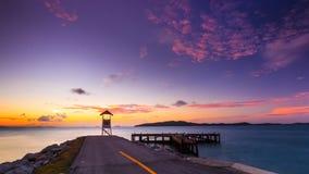 Дорога конца восход солнца Стоковое Фото