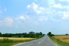 дорога конца церков Стоковое Фото